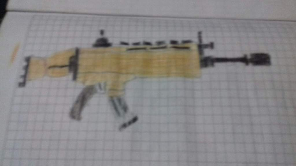 Dibujos Para Colorear De Fortnite Scar Fortnite Rifle Scar Coloring