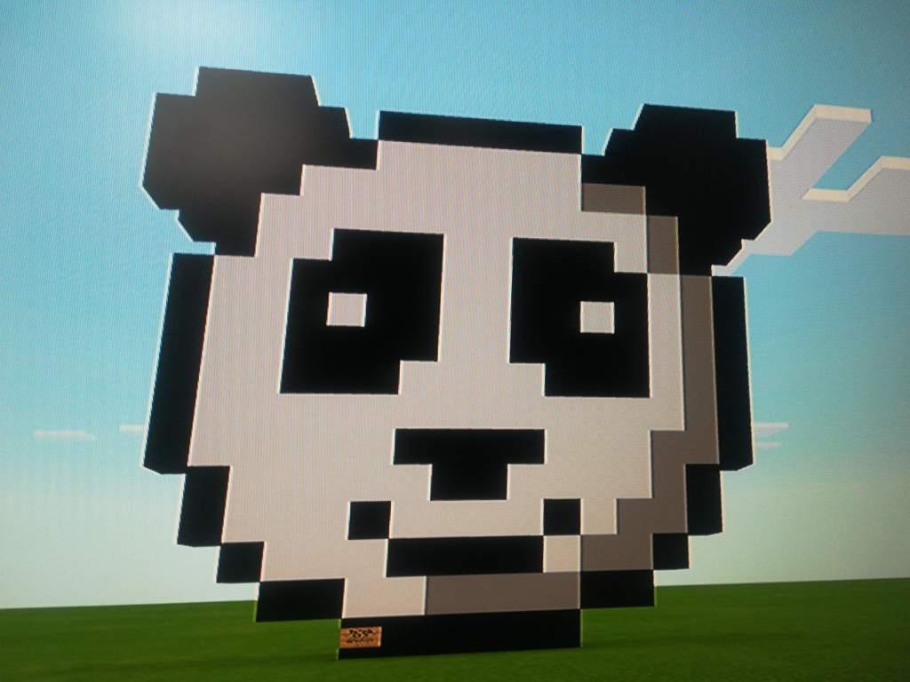 The Panda Pixel Art Minecraft Amino
