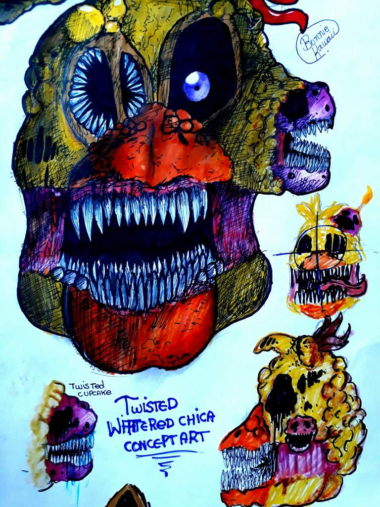 Twisted Chica Concept Arts Five Nights At Freddy S Amino