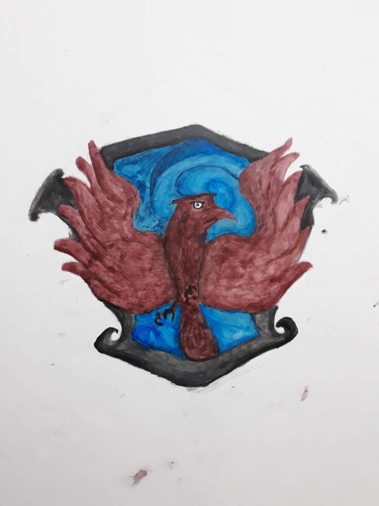 Ravenclaw pride. I painted it in my room. | Harry Potter Amino