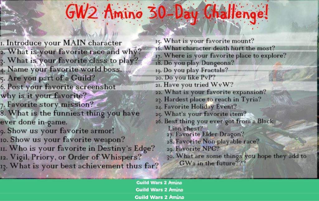 Gw2 30 Day Challenge Day 1 Guild Wars 2 Amino