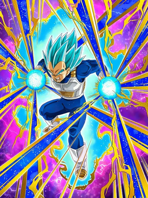 Dragon Ball Z Dokkan Battle Lbb Vegeta Card Art Super Anime Amino
