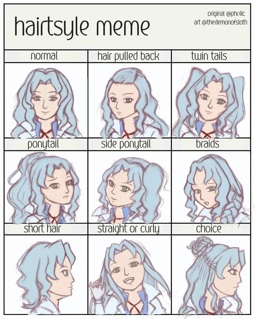 Hairstyle Meme Sophie Beyblade Amino