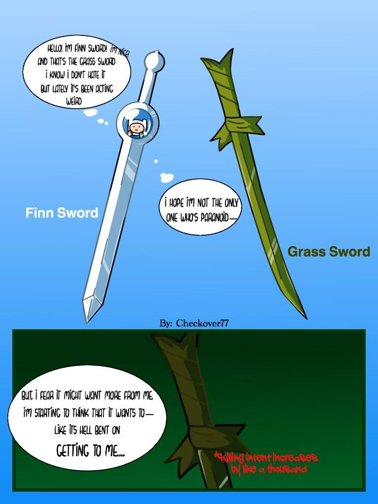 Finn Sword Amp Grass Sword Comic Adventure Time Amino Amino