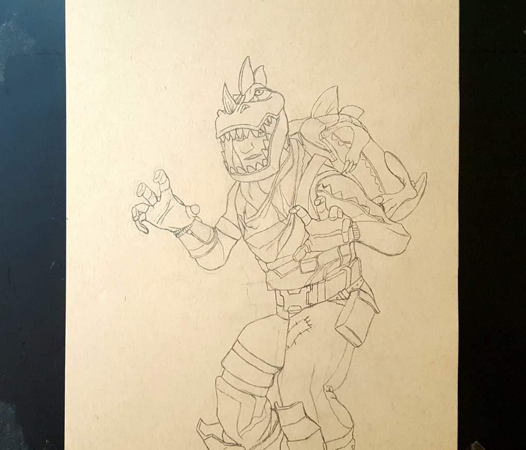 Dibujo De La Skin De Rex Fortnite Espa 241 Ol Amino