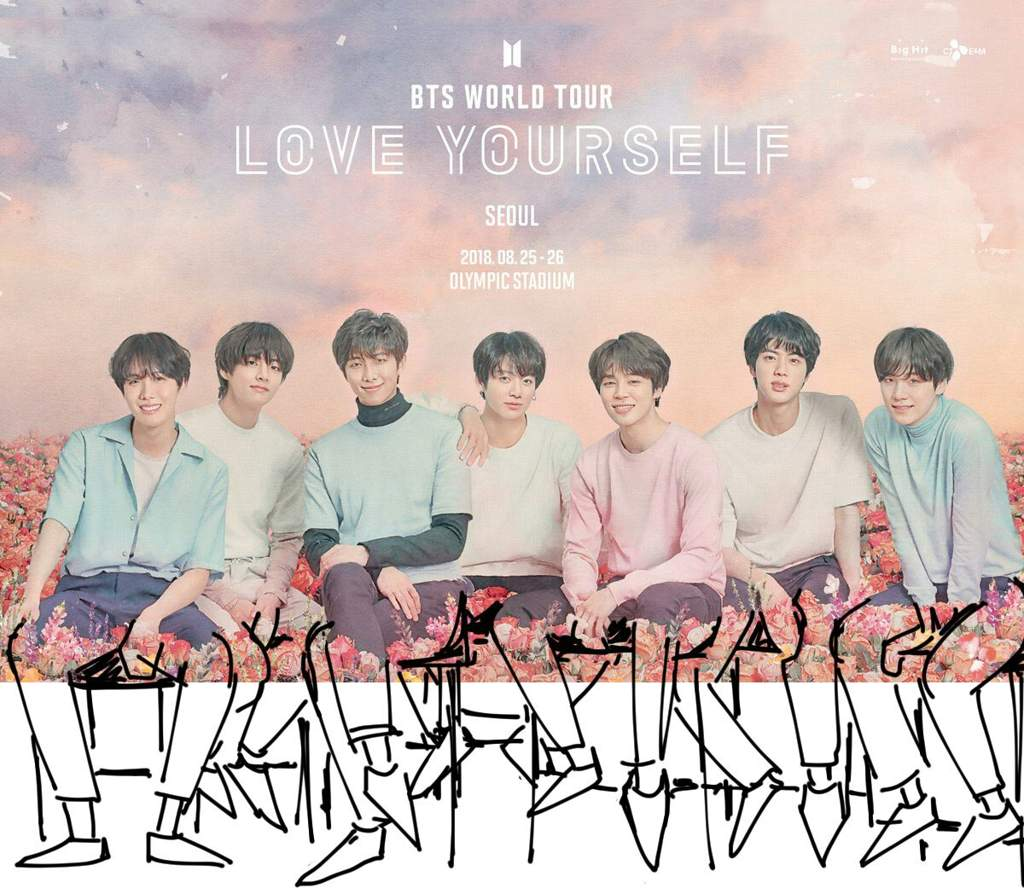 "BTS Poster For ""Love Yourself"" Concert"