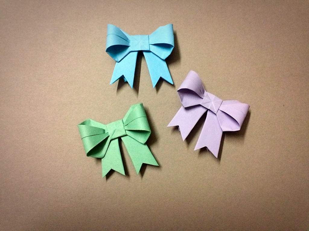 Mini Origami Bows Miniature Scale Amino