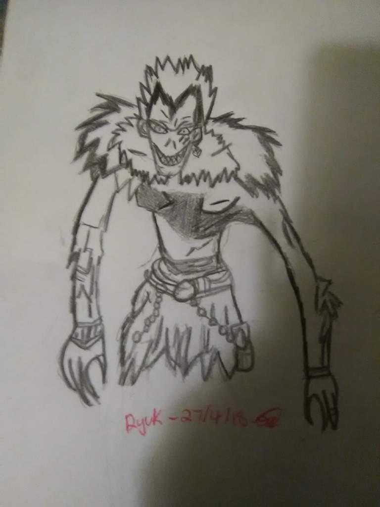 A Drawing Iq Drew Of Ryuk Death Note Amino