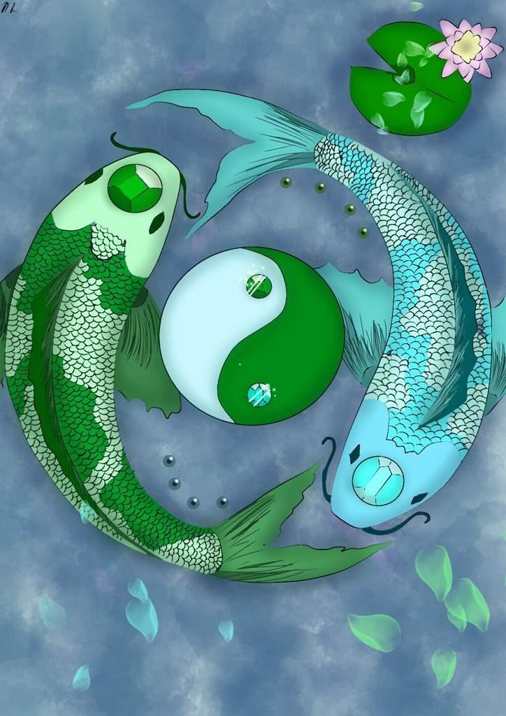 Ying Yang Koi Fish Art Art Amino