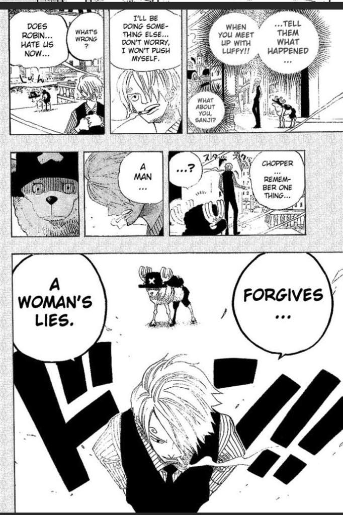 Sanji knew Robin was lieing the whole time   One Piece Amino