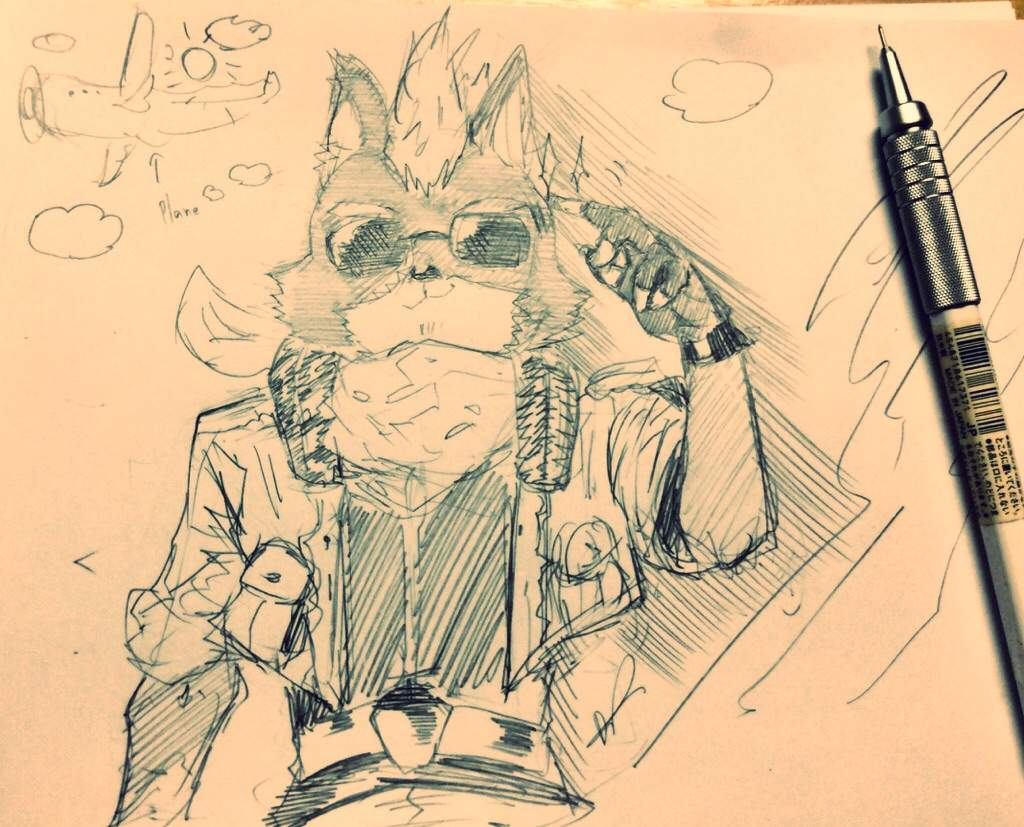 Fuffier Star Fox Mccloud Sketch No 9 Art Amino