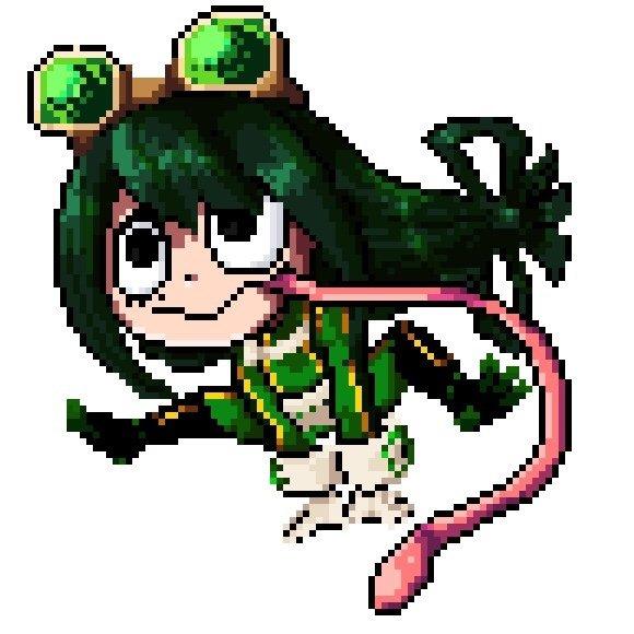 Tsuyu Pixelart My Hero Academia Amino