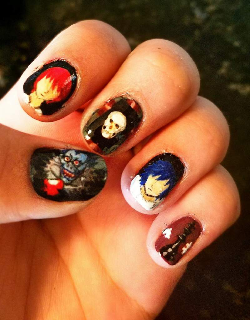 Death Note Nails 💅💀 | Art Amino