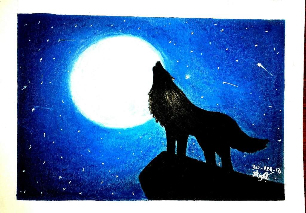 Lobo Aúllando: Lobo Aullando (Dibujo Rapido)