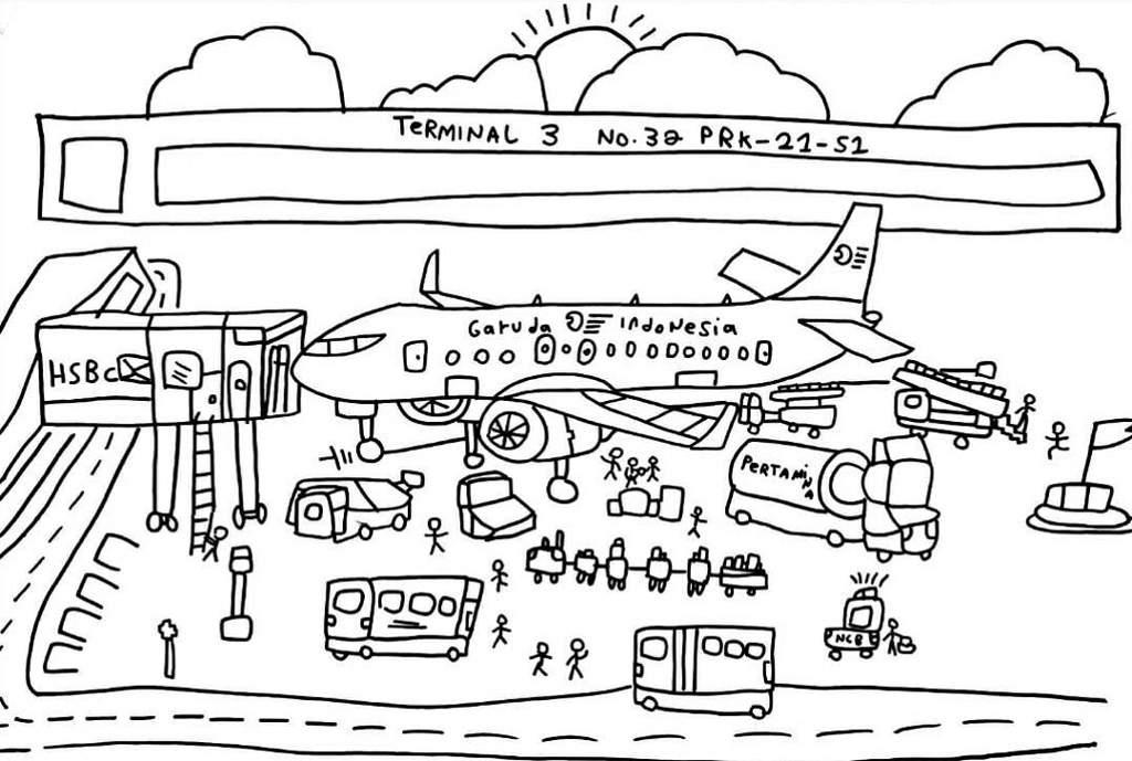Draw A Plane Garuda Indonesia Roblox Amino
