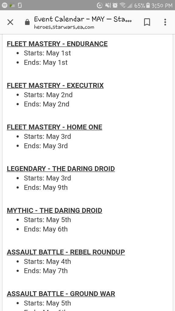 Swgoh Events Calendar.Swgoh May Events Calendar Star Wars Amino
