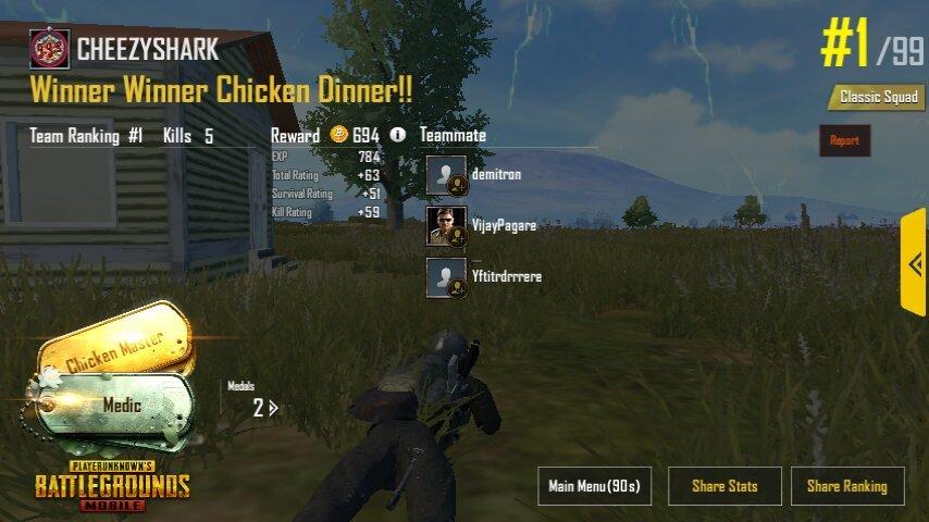 winner winner chicken dinner pubg mobile amino