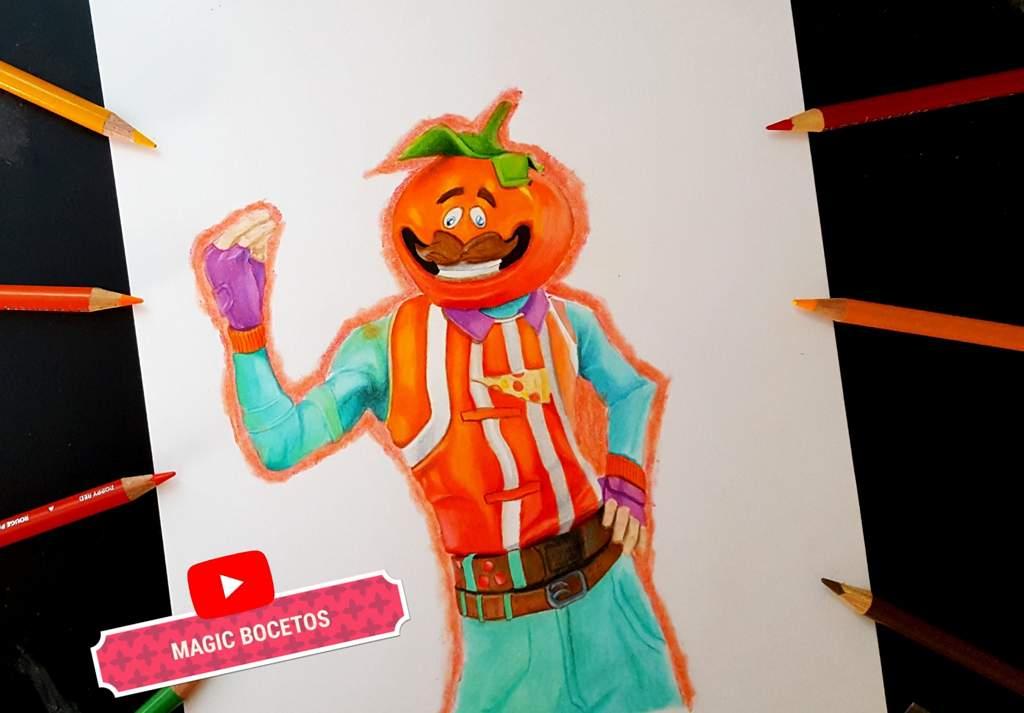 Dibujo Skin Cabeza De Tomate De Fortnite Fortnite Español Amino