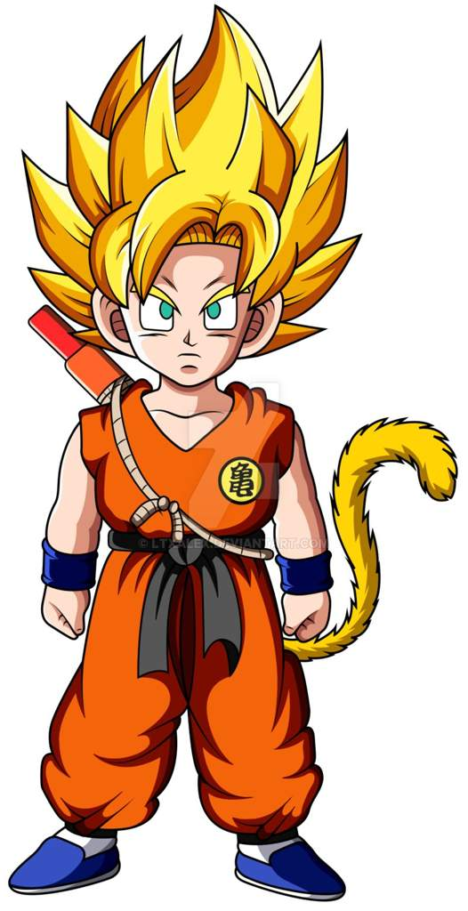 Desenho Goku Crianca Super Sayajin Dragon Ball Oficial Amino