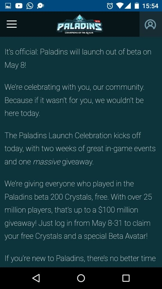 Paladins Launch Celebration Megathread and Giveaway • r