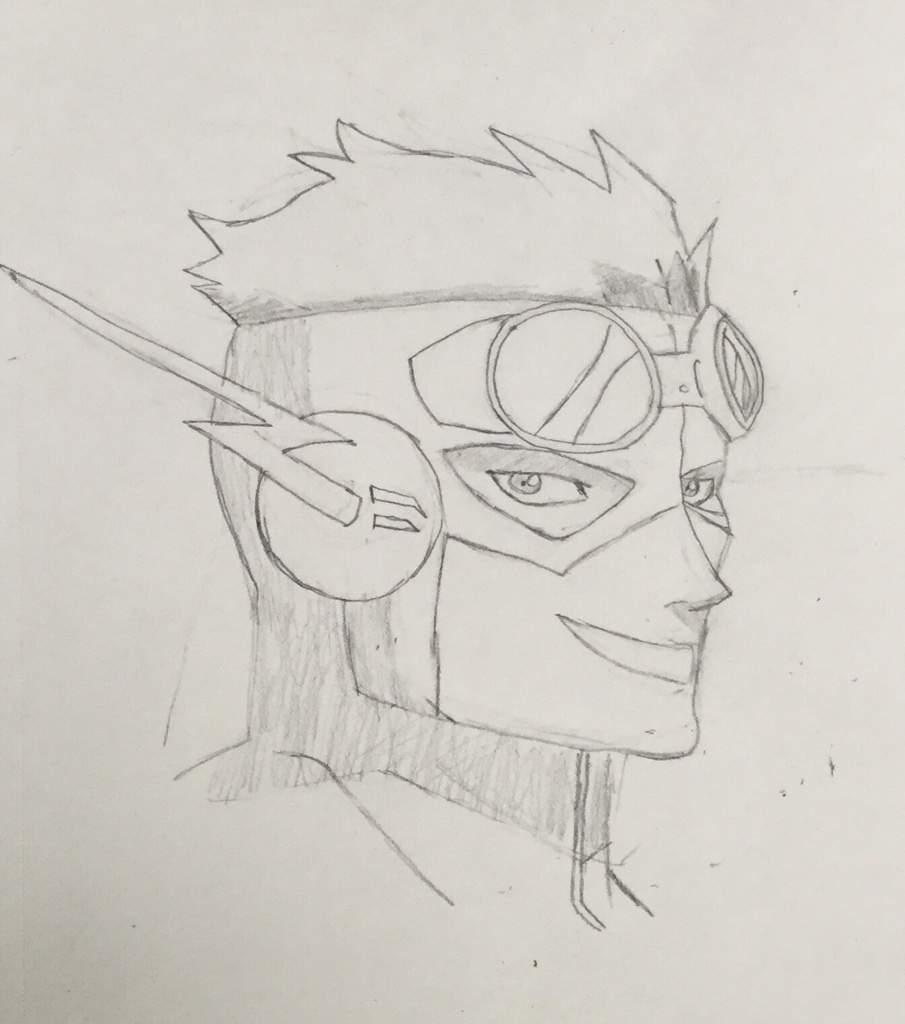 Kid Flash Drawing The Flash Amino