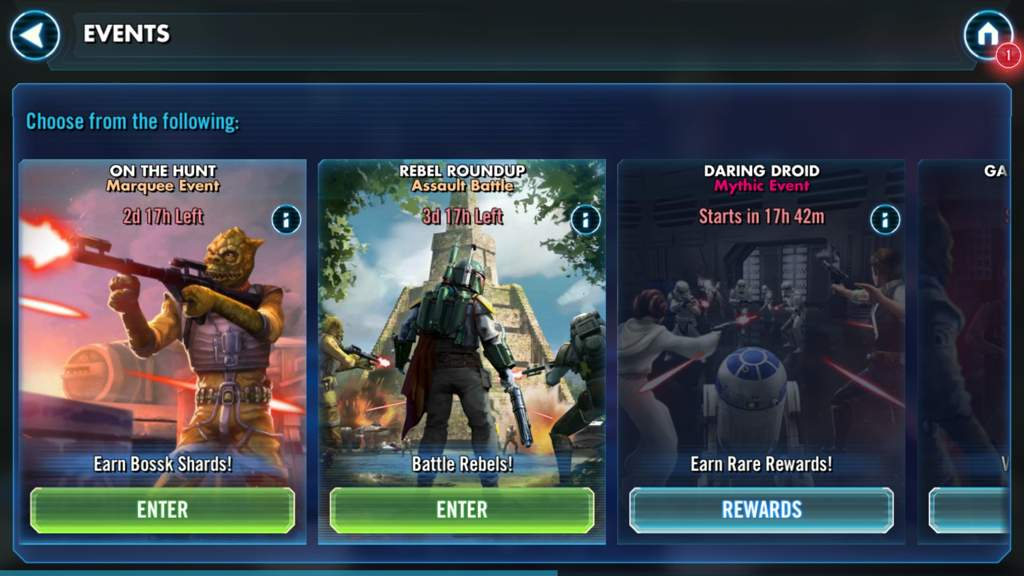 Swgoh - Bossk event active now | Star Wars Amino