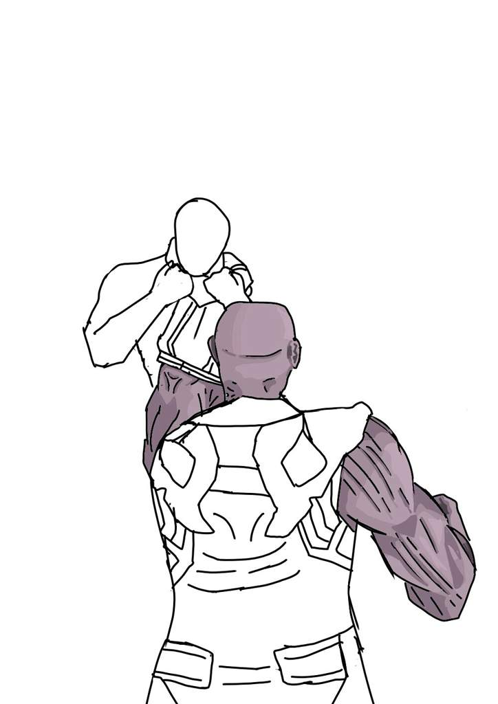 Dibujo De Infinity War Thanos Vs Capitan America Cómics