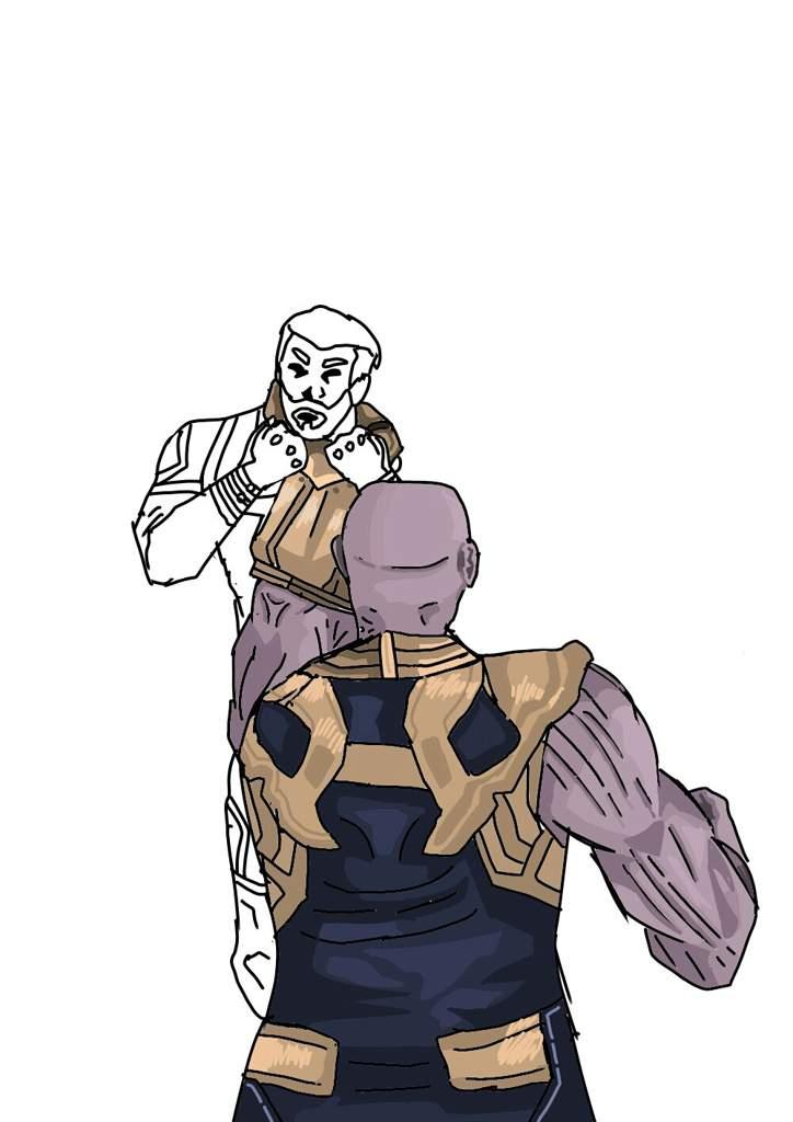 Dibujo De Infinity War Thanos Vs Capitan America Cómics