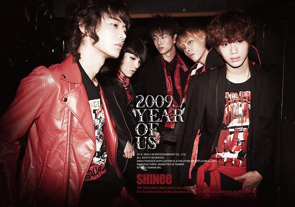Image result for shinee 2009 year of us album cover