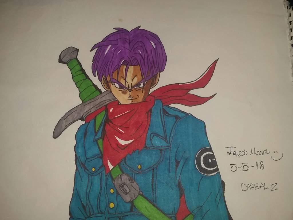Dbs Future Trunks Purple Hair Dragonballz Amino