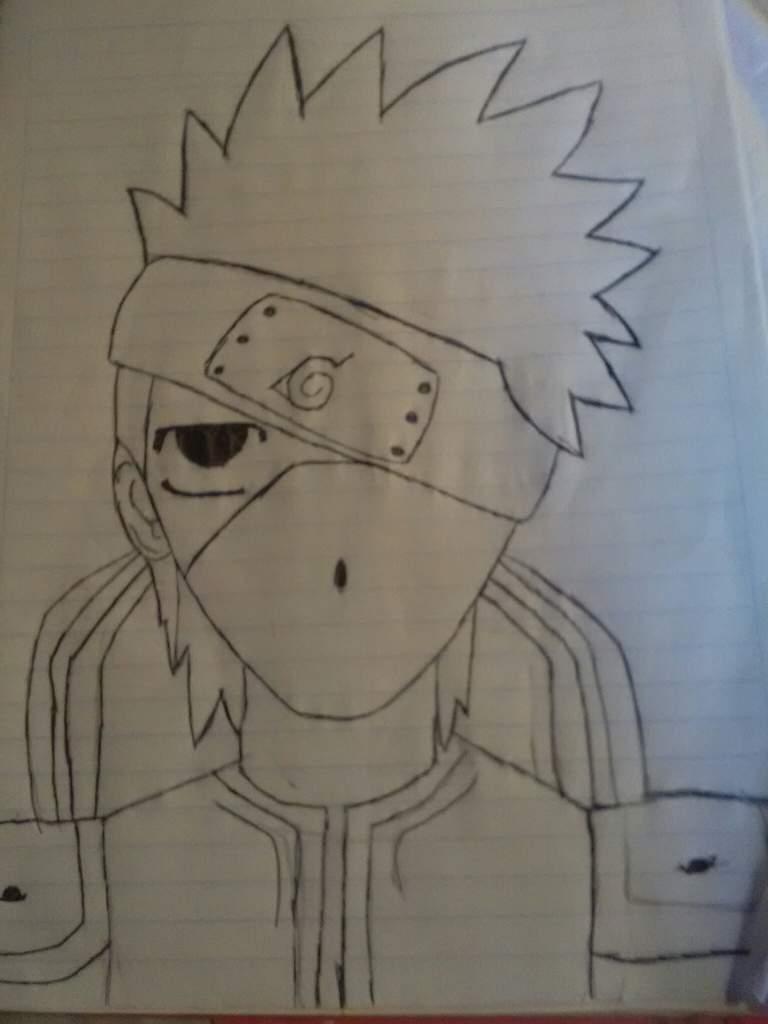 Dibujo De Kakashi Hatake Sin Proceso Naruto Amino Amino