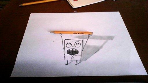 Imagen Dibujos 3d A Lapiz Arte Anamórfico Arte Taringa