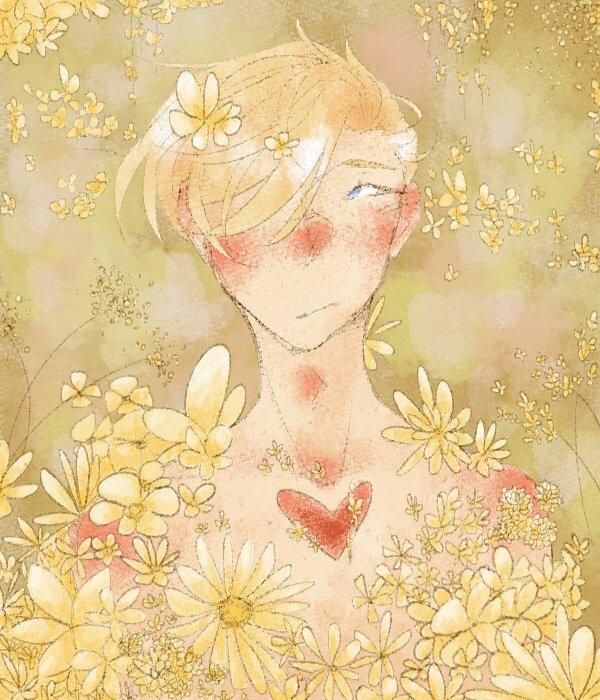 Yellow Flowers Drawing Amino