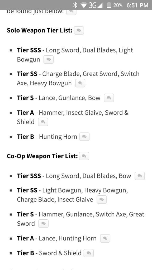monster hunter world weapons tier list