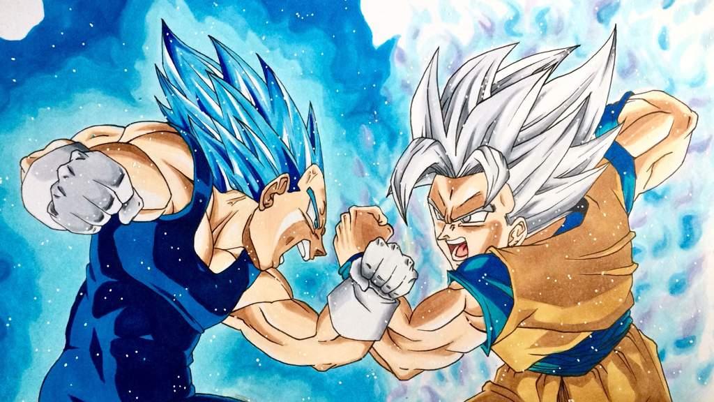 Nouveau Dessin Goku Vs Vegeta Anime Et Manga Amino