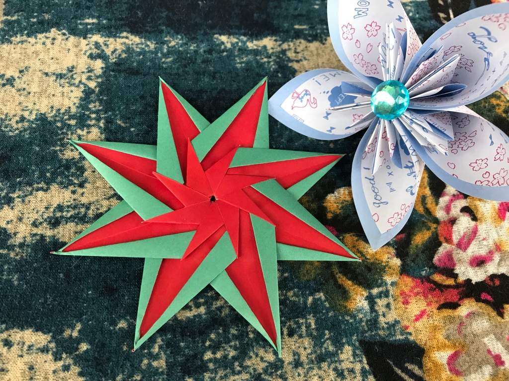 Striped Star Flower Tutorial Origami And Paper Crafts Amino