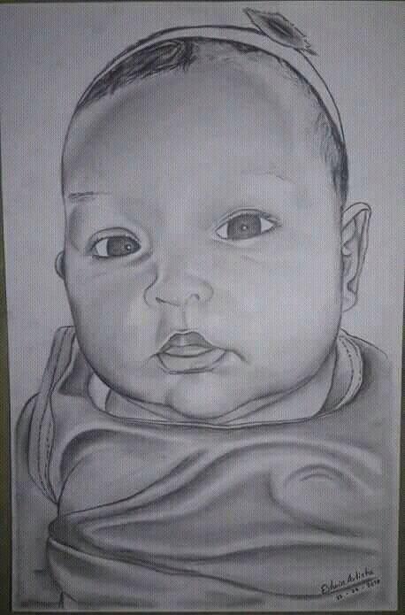 Dibujo A Lapiz Carboncillo Blanco Y Negro Arte Amino Amino