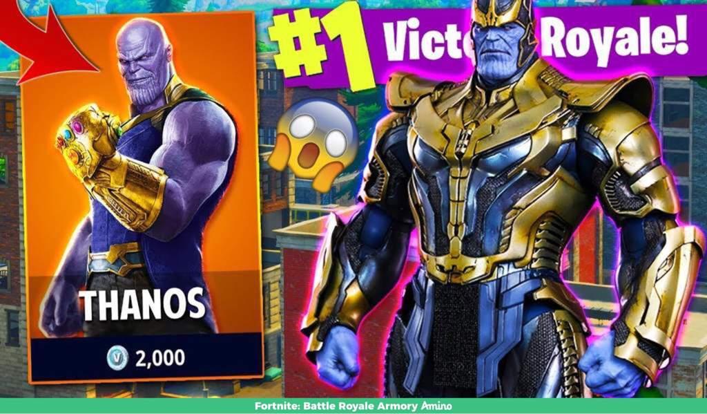 Thanos Skin Fortnite Battle Royale Armory Amino