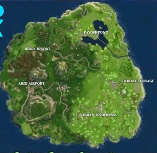 hoy les vengo a hablar sobre un posible nuevo mapa en fortnite battle royale esto no esta totalmente confirmado pero hace poco se rebelo esta imagen - antiguo mapa fortnite espanol