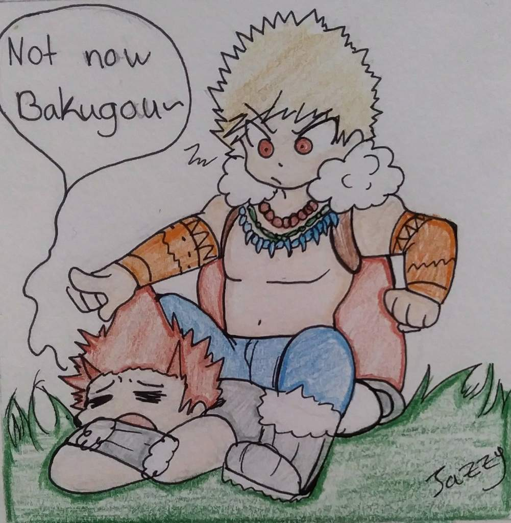 Chibi Bakugou X Kirishima Doodles And Drawings Amino