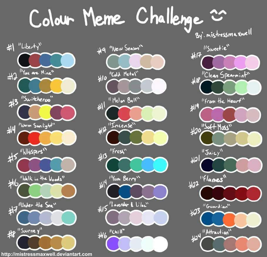 Color Palette Challenge Inktale Amino