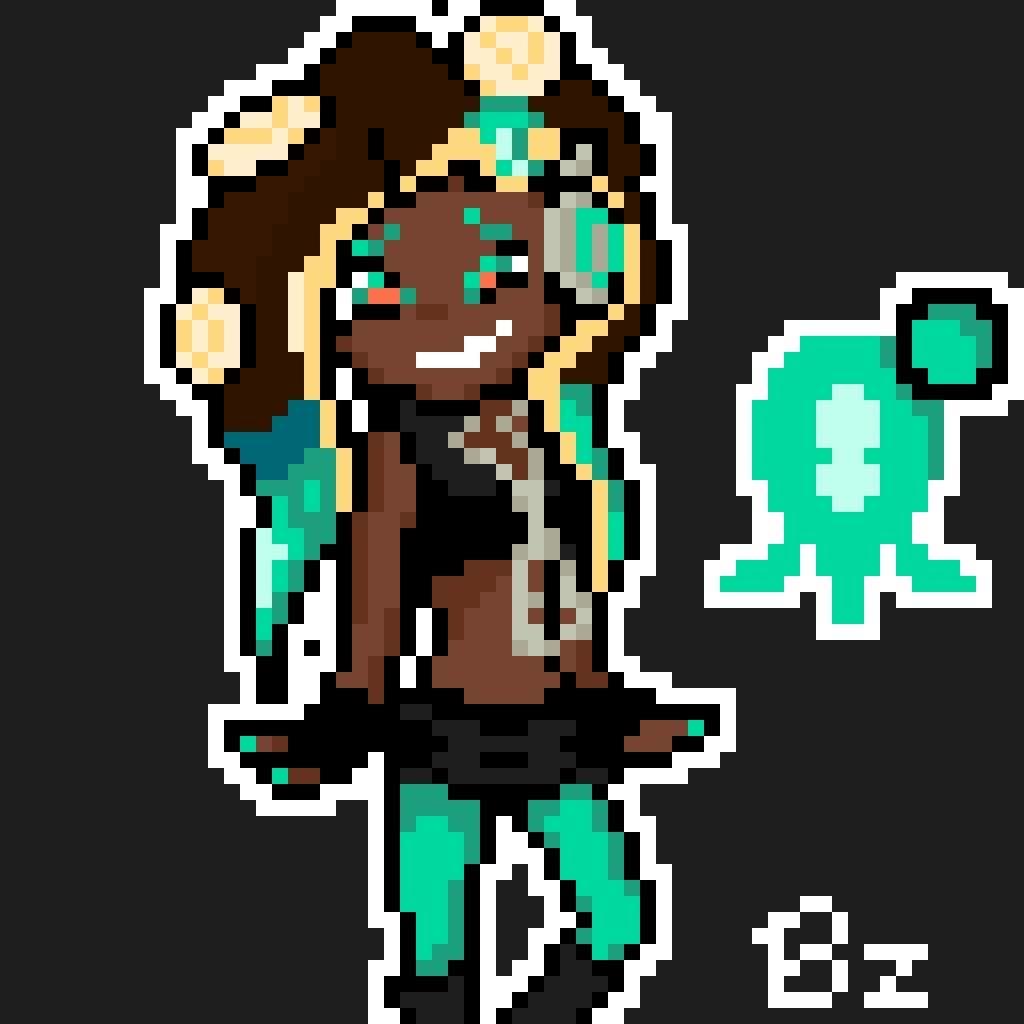 Marina Pixel Art Splatoon Amino