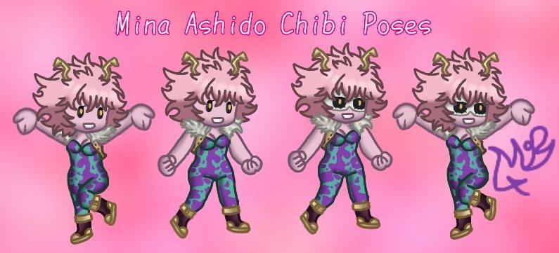 Mina Ashido Chibi Art My Hero Academia Amino