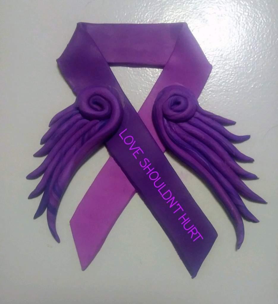 Domestic Violence Awareness Poly Clay Amino Amino
