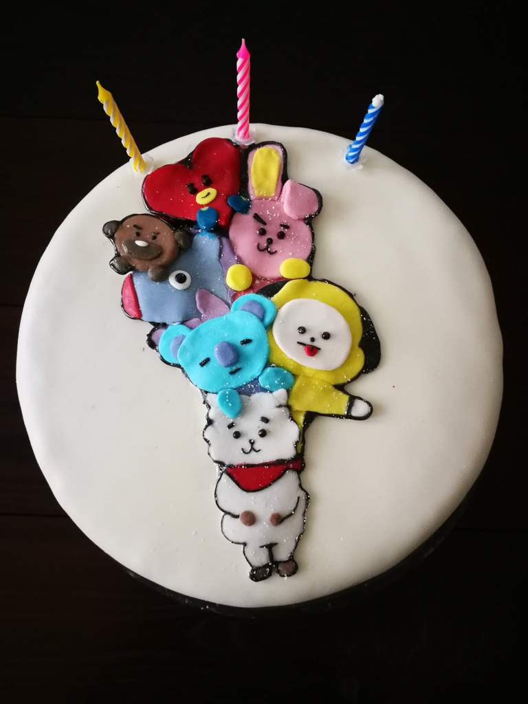 My Bt21 Birthday Cake Armys Amino