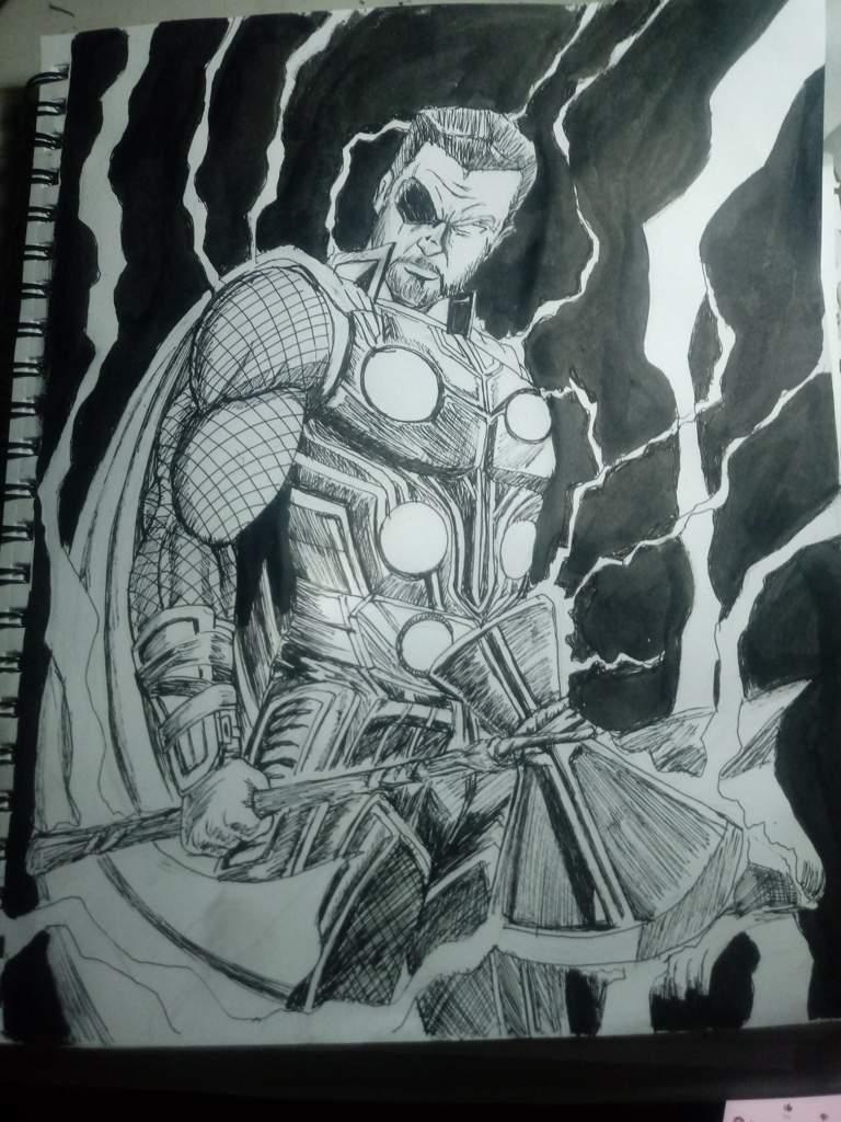 Thor Storm Breaker Speed Draw Dibujarte Amino