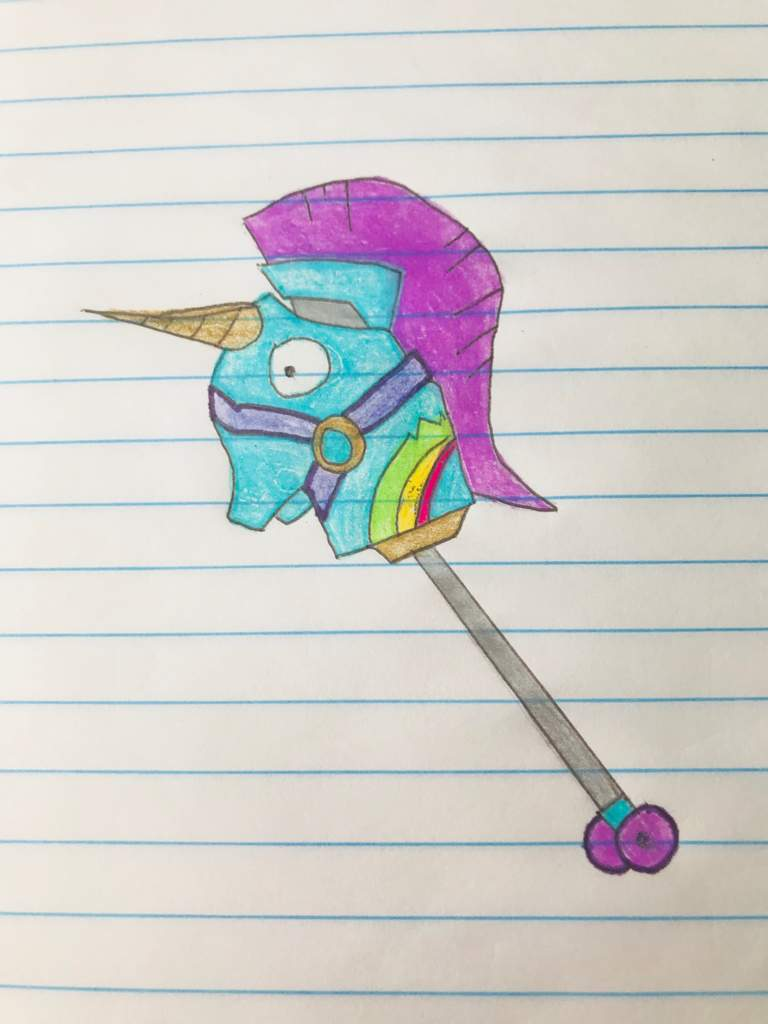 dff43e4e2d784 Drawing of the Rainbow Smash Pickaxe!🦄🌈 | Fortnite: Battle Royale ...