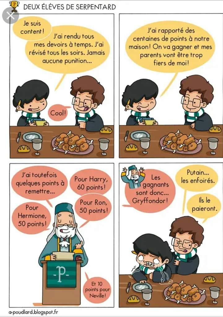 La Coupe Des Quatre Maison Favoritisme Pour Gryffondor Harry