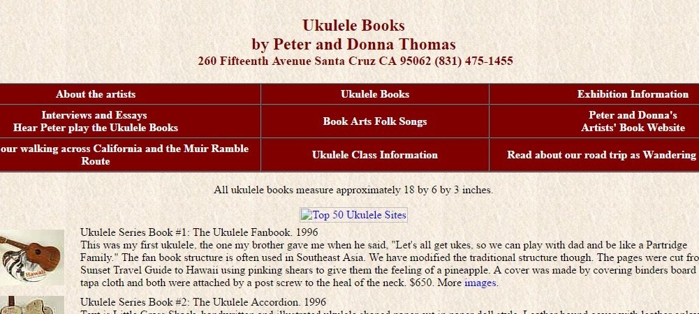 The top 50 ukulele sites wiki life on 4 strings amino some of the rarest and most original ukulele books ever made these are amazing novelty items dont overlook the interview or road trip sections of the fandeluxe Images