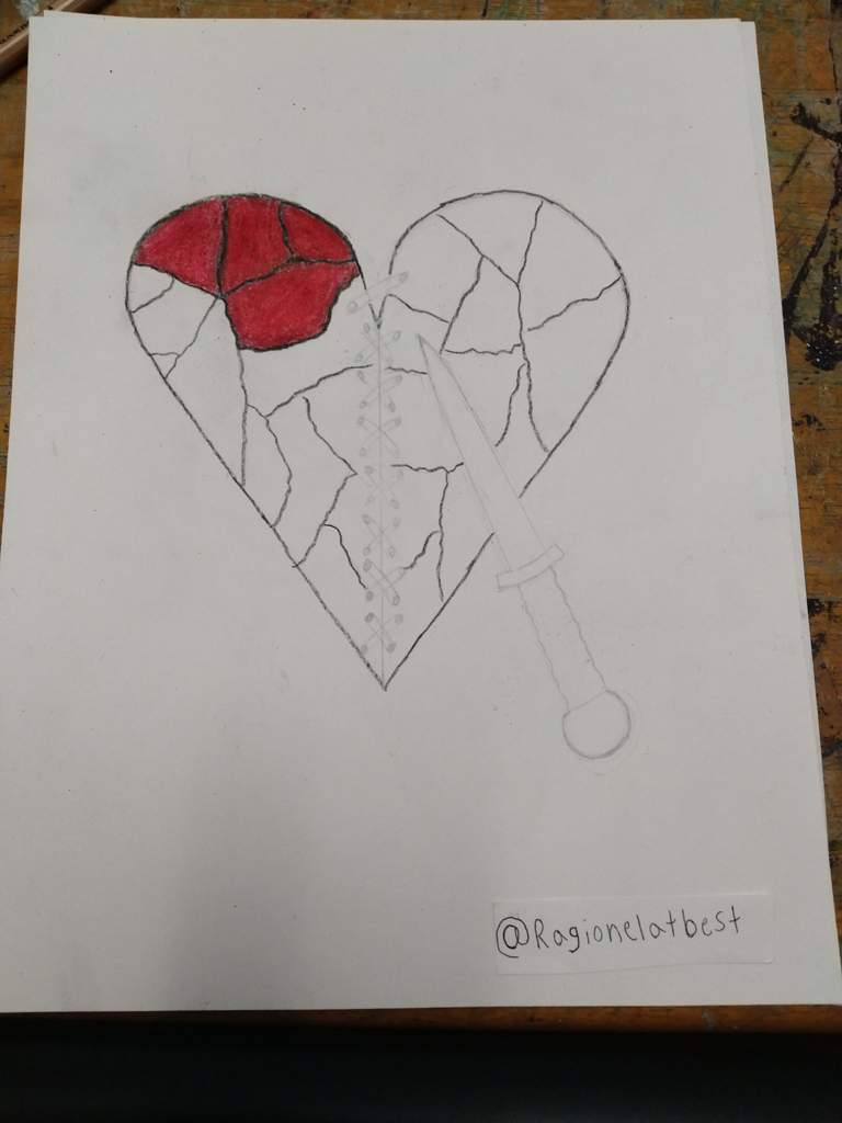 Broken heart drawing update 1